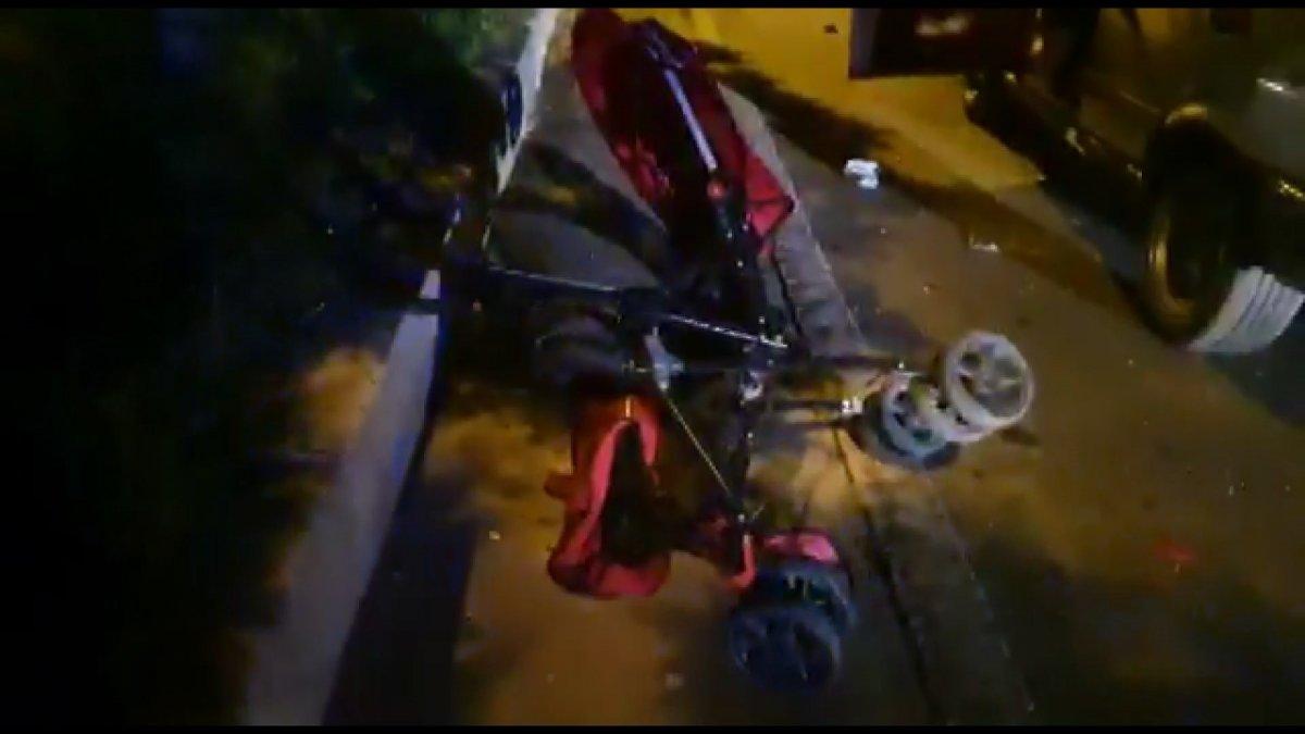 Bursa da yaya halindeki anne ve çocuğa araba çarptı #2