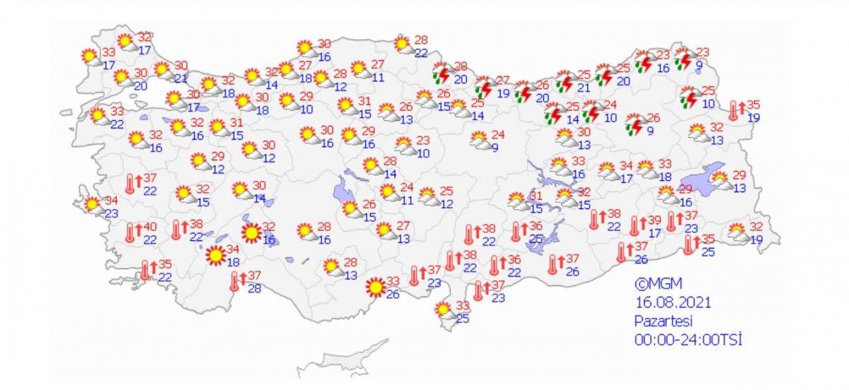 Meteoroloji'den Rize ve Artvin için yağış uyarısı #4