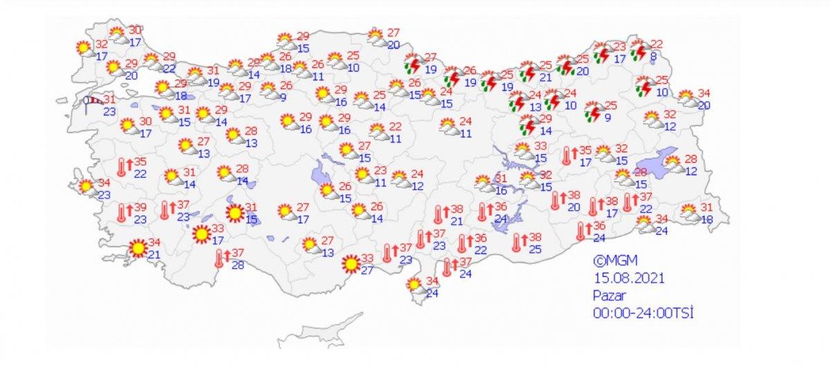 Meteoroloji'den Rize ve Artvin için yağış uyarısı #3