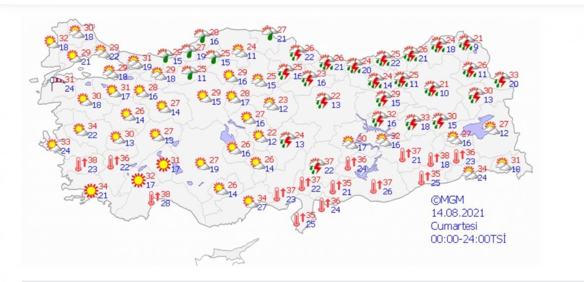 Meteoroloji'den Rize ve Artvin için yağış uyarısı #2