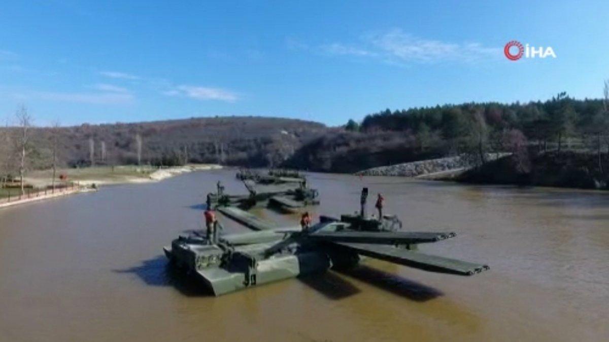 MSB, sel bölgesine 2 yatay kaydırmalı köprü tankı ile 3 sabit köprü aracı gönderdi #3