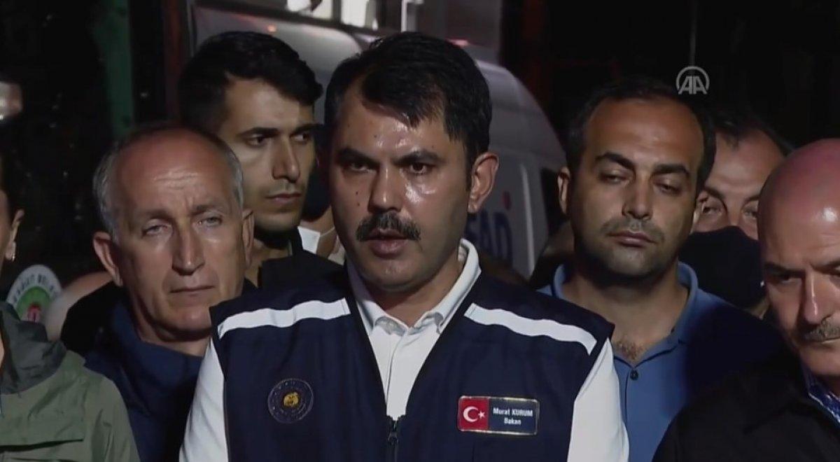 Bakan Murat Kurum: Selden etkilenen 454 bina var #1