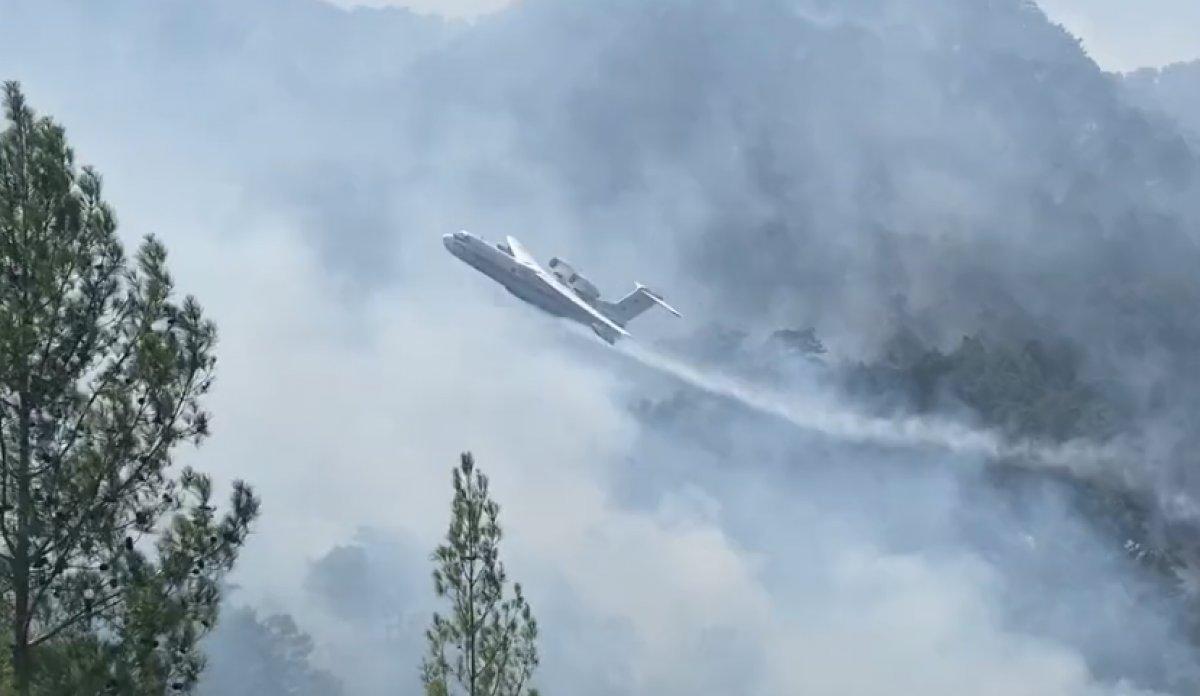 Kahramanmaraş ta yangın söndürme uçağının çakılma anı #3