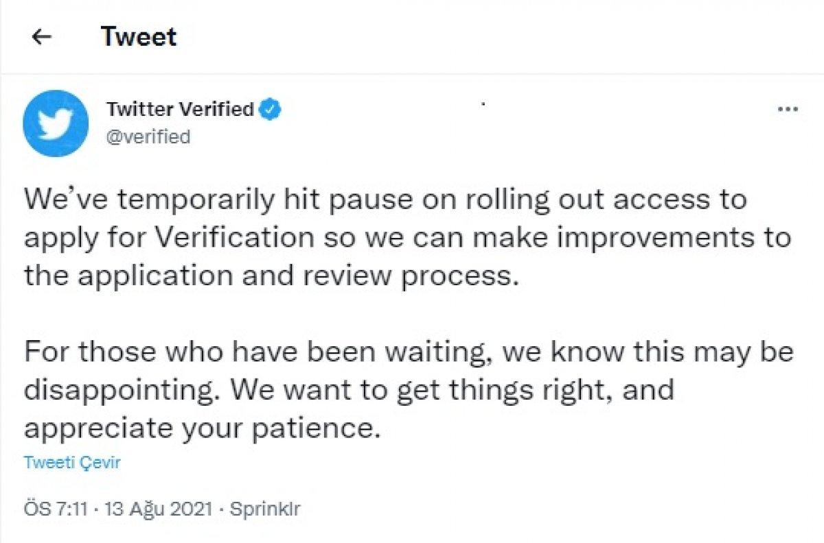 Twitter  mavi tik  onayı bekleyenlere kötü haber! Süreç durduruldu #1