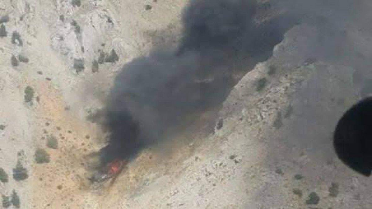 Kahramanmaraş ta yangın söndürme uçağının çakılma anı #1