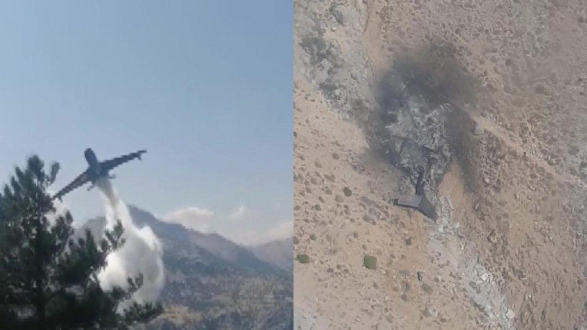 Kahramanmaraş ta yangın söndürme uçağının çakılma anı #6