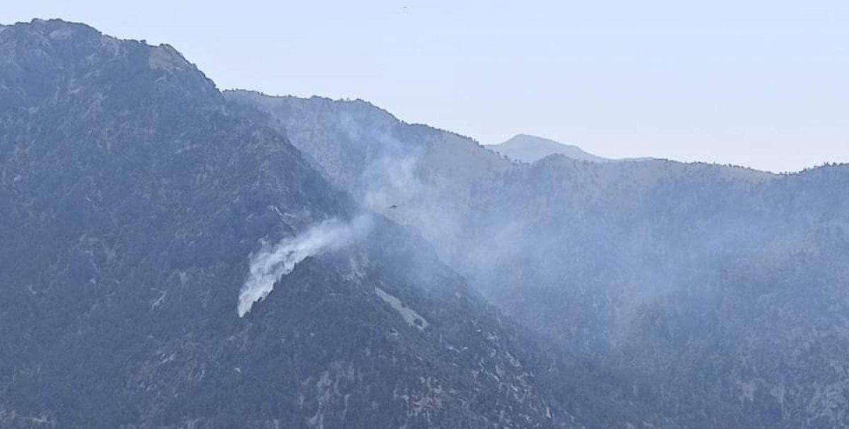 Kahramanmaraş ta yangın söndürme uçağı düştü #1
