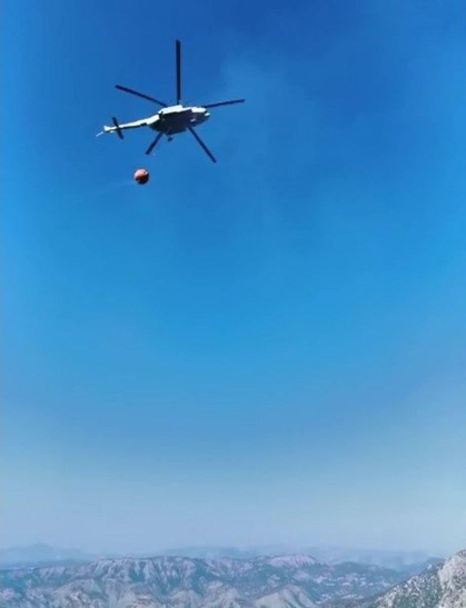 Kahramanmaraş ta yangın söndürme uçağı düştü #6