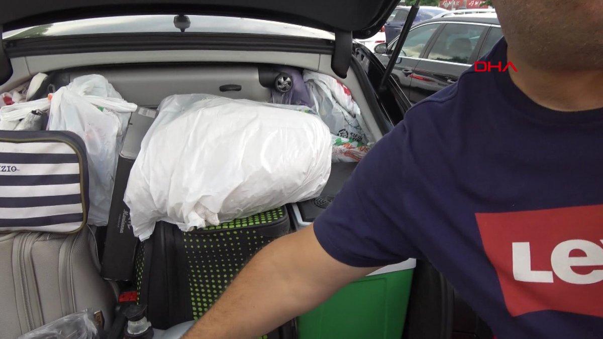 Gurbetçiler dönüş yolunda bagajları doldurdu #11