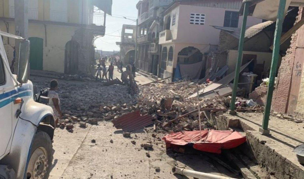 Haiti deki depremde yaşamını yitirenlerin sayısı 700 ü geçti #2