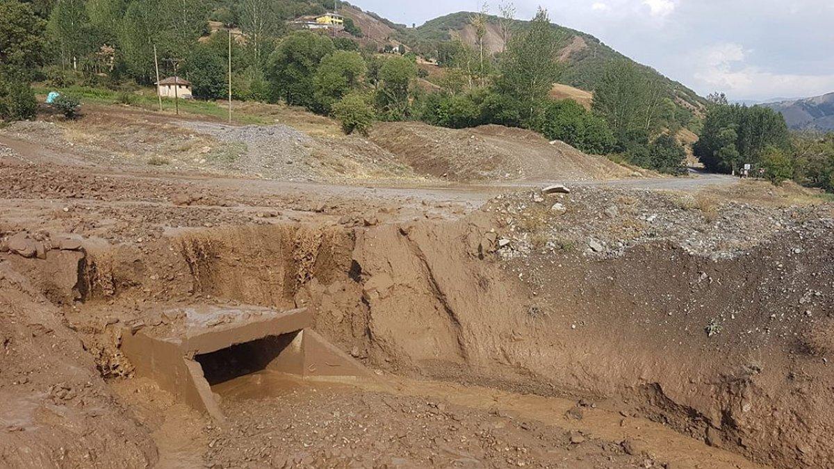 Kars'ın Sarıkamış ilçesindeki köyde sel baskını #6