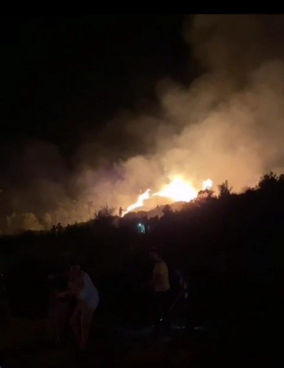 Muğla da araçta başlayan yangın ormana sıçradı #2