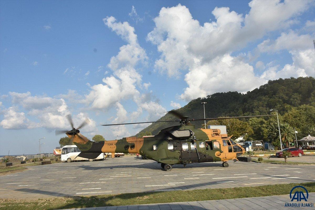 Sinop ta köylere helikopterle erzak taşınıyor #4