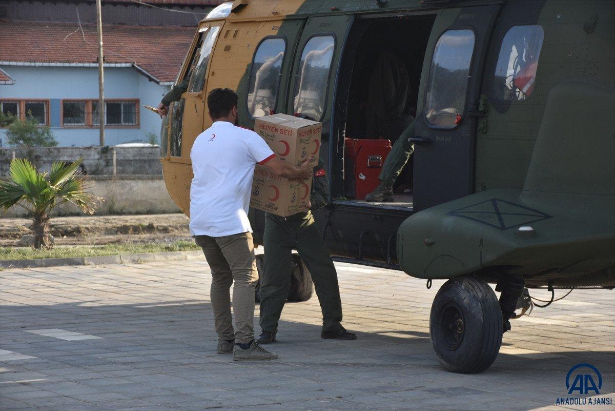 Sinop ta köylere helikopterle erzak taşınıyor #5