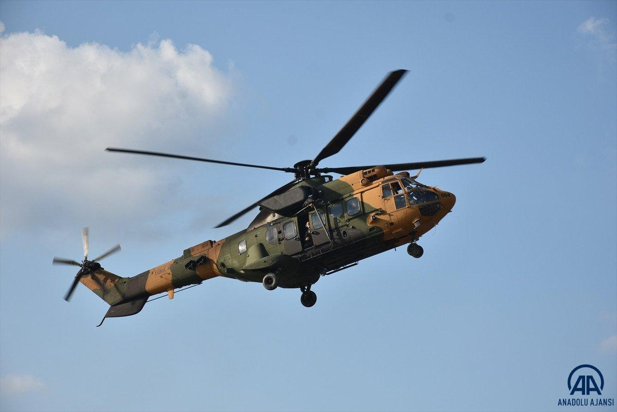 Sinop ta köylere helikopterle erzak taşınıyor #2