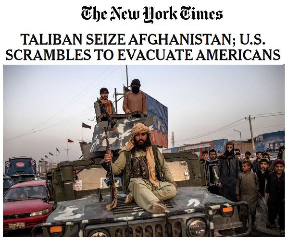ABD basınında Taliban manşetleri #1