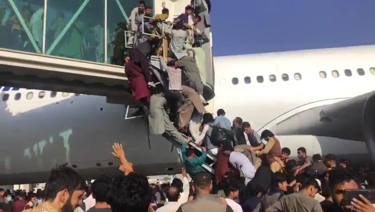 Yüzlerce Afgan, uçağa binebilmek için birbirini ezdi #3