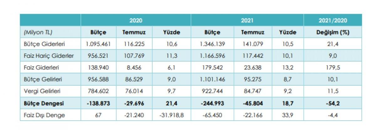 Bütçe uygulama sonuçları açıklandı #2