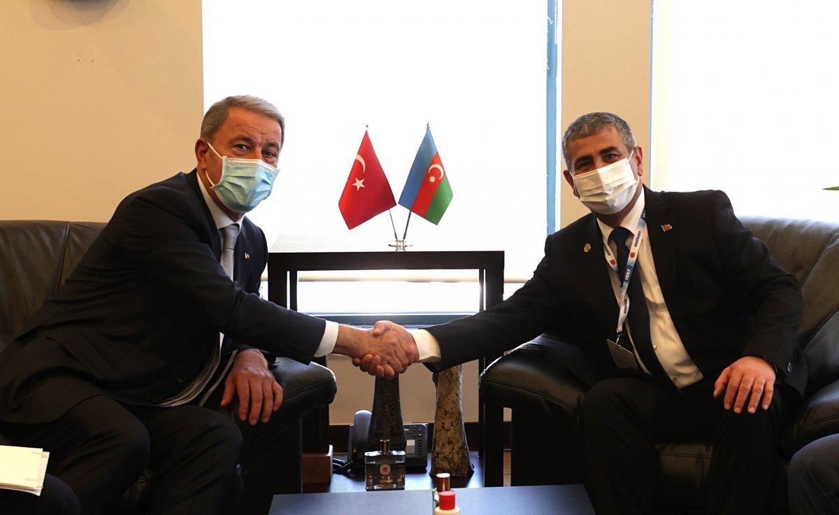 Hulusi Akar mevkidaşı Zakir Hasanov ile görüştü #2