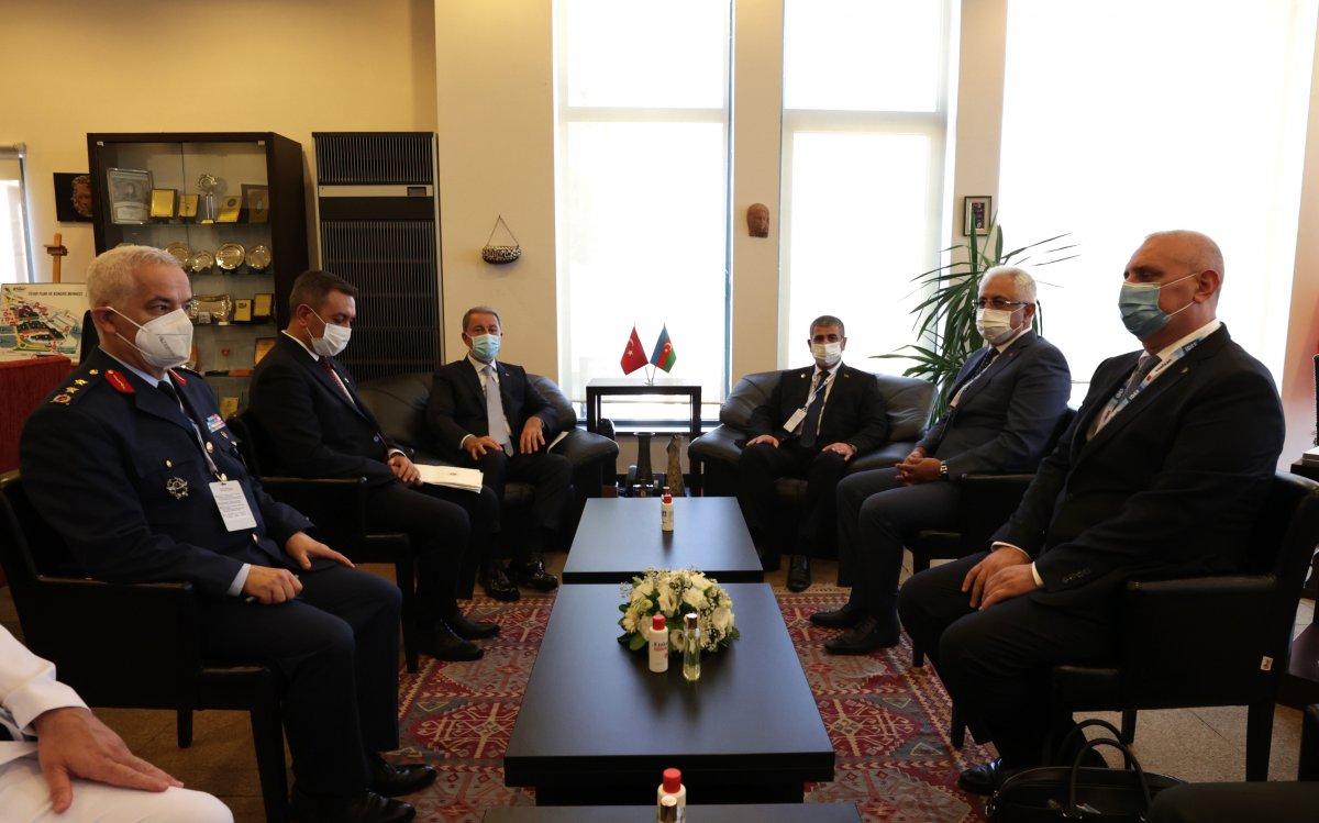 Hulusi Akar mevkidaşı Zakir Hasanov ile görüştü #1
