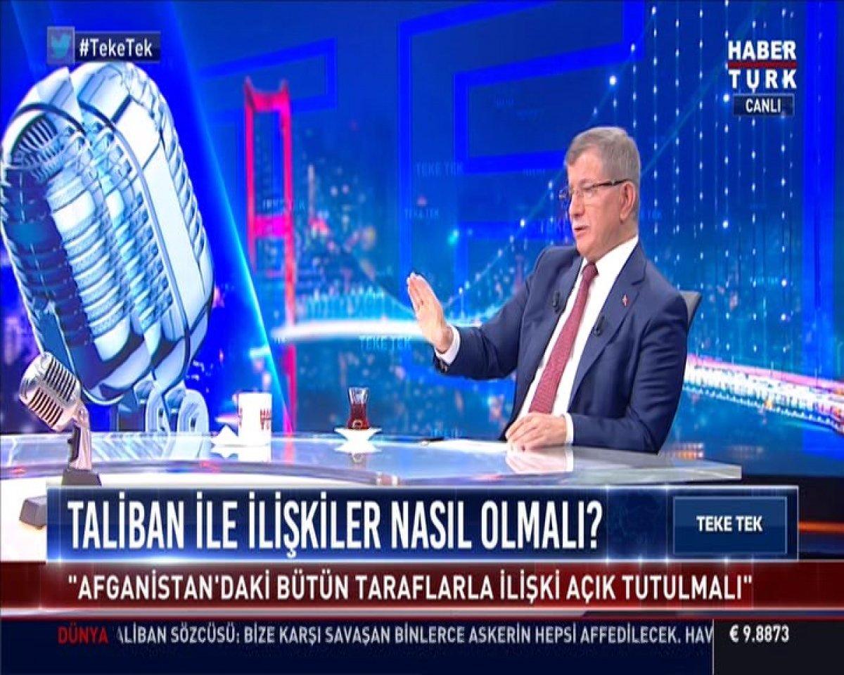 Ahmet Davutoğlu Afganistan'da yaşananları yorumladı #3