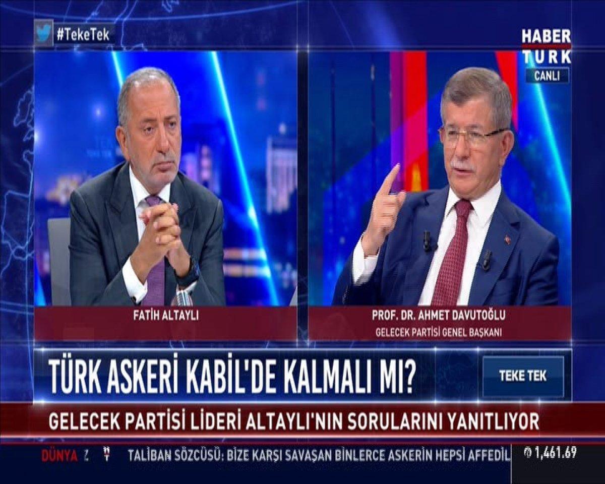 Ahmet Davutoğlu Afganistan'da yaşananları yorumladı #1