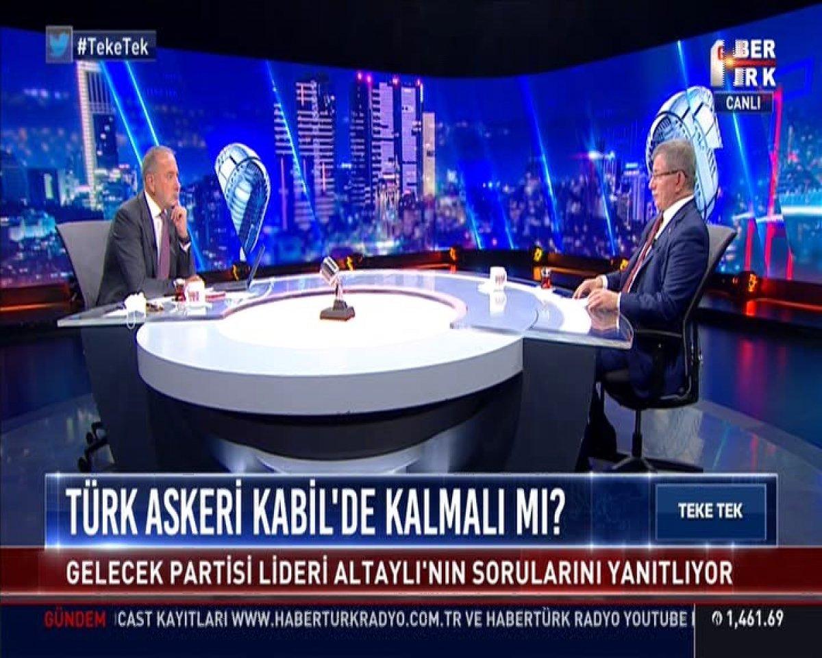 Ahmet Davutoğlu Afganistan'da yaşananları yorumladı #2