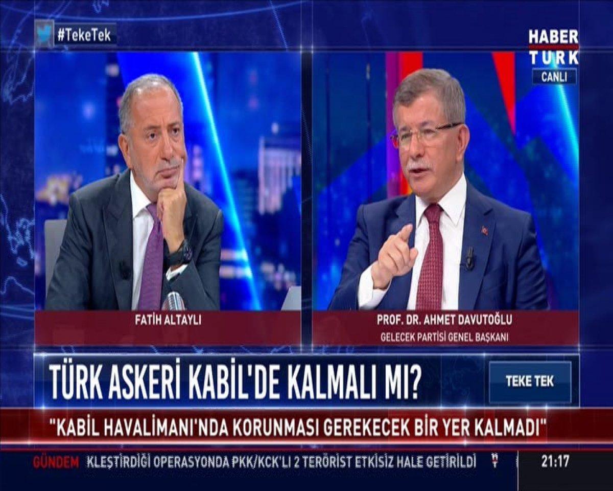 Ahmet Davutoğlu Afganistan'da yaşananları yorumladı #4