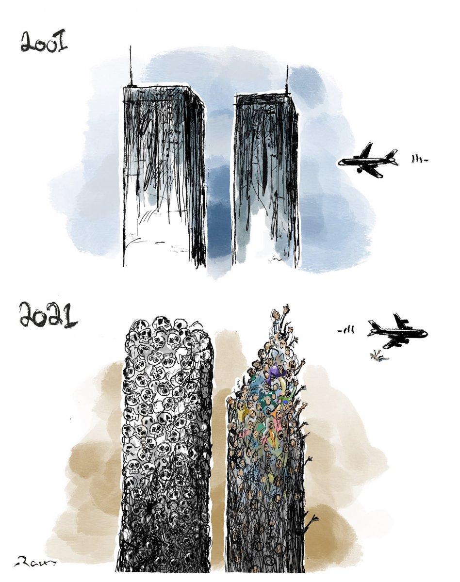 Ürdünlü sanatçıdan Afganistan için 11 Eylül karikatürü