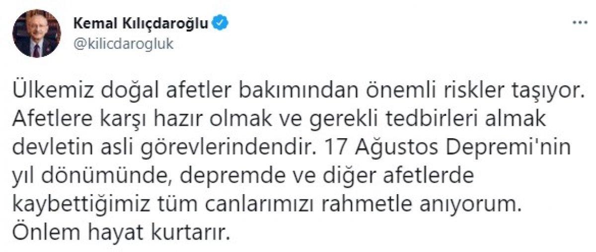 Kemal Kılıçdaroğlu, 17 Ağustos depreminde hayatını kaybedenleri andı #1