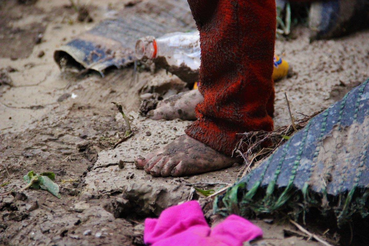 Bozkurt ta çocuklar, sel felaketinden habersiz oyun oynadı #4