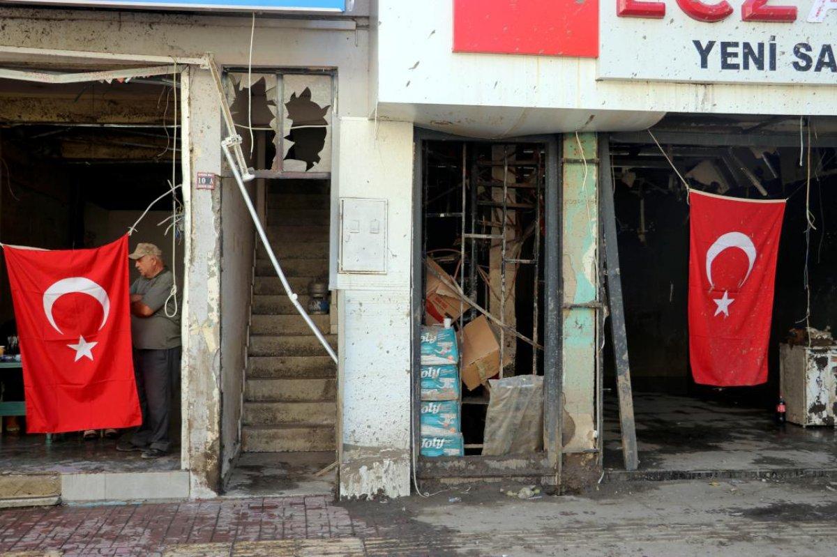 Bozkurt ta selin vurduğu esnaf Türk bayrağından güç alıyor #3