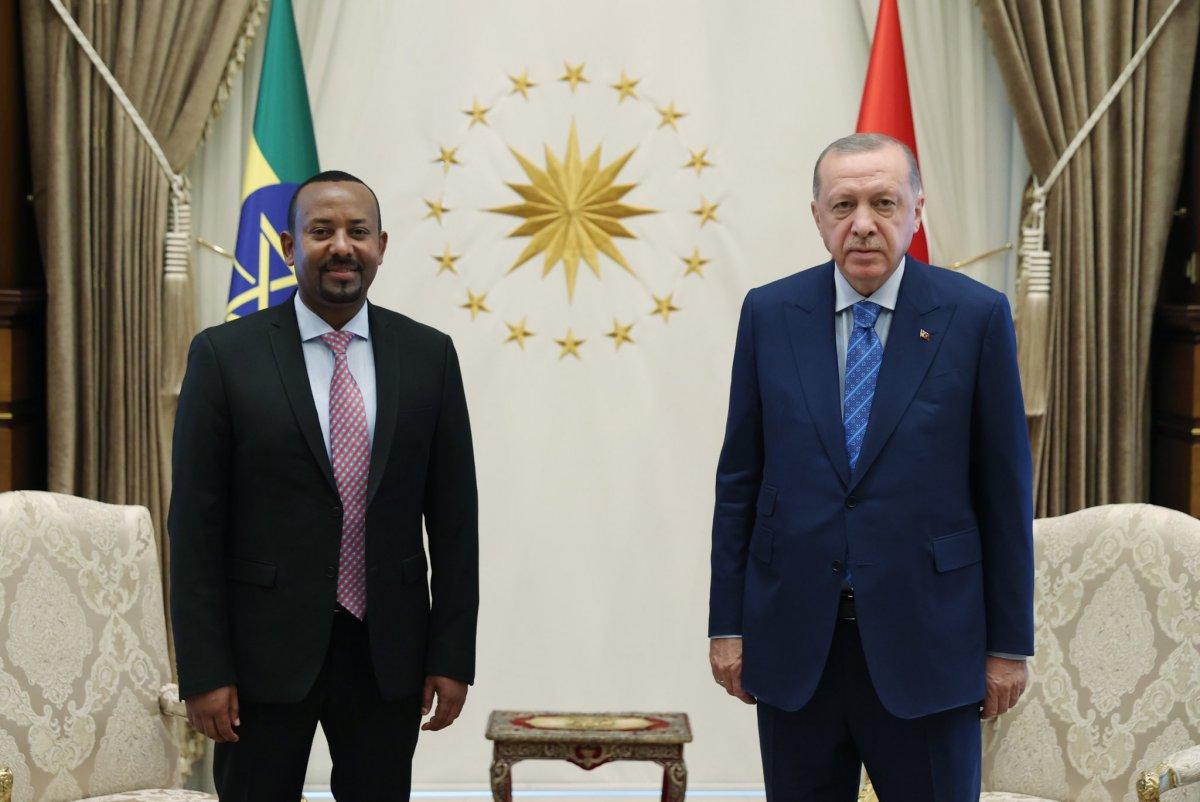 Cumhurbaşkanı Erdoğan ile Etiyopya Başbakanı ndan ortak açıklama #1