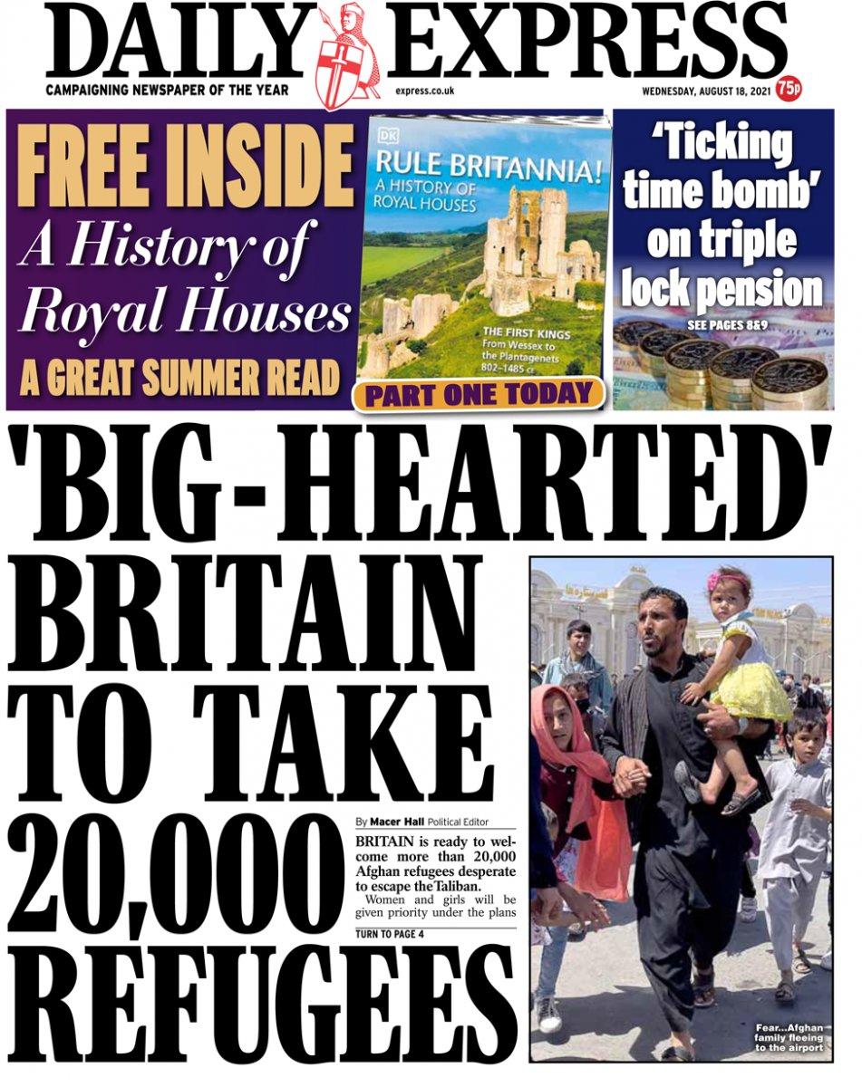 20 bin Afgan sığınmacının kabul edilmesi kararı İngiliz basınında #1