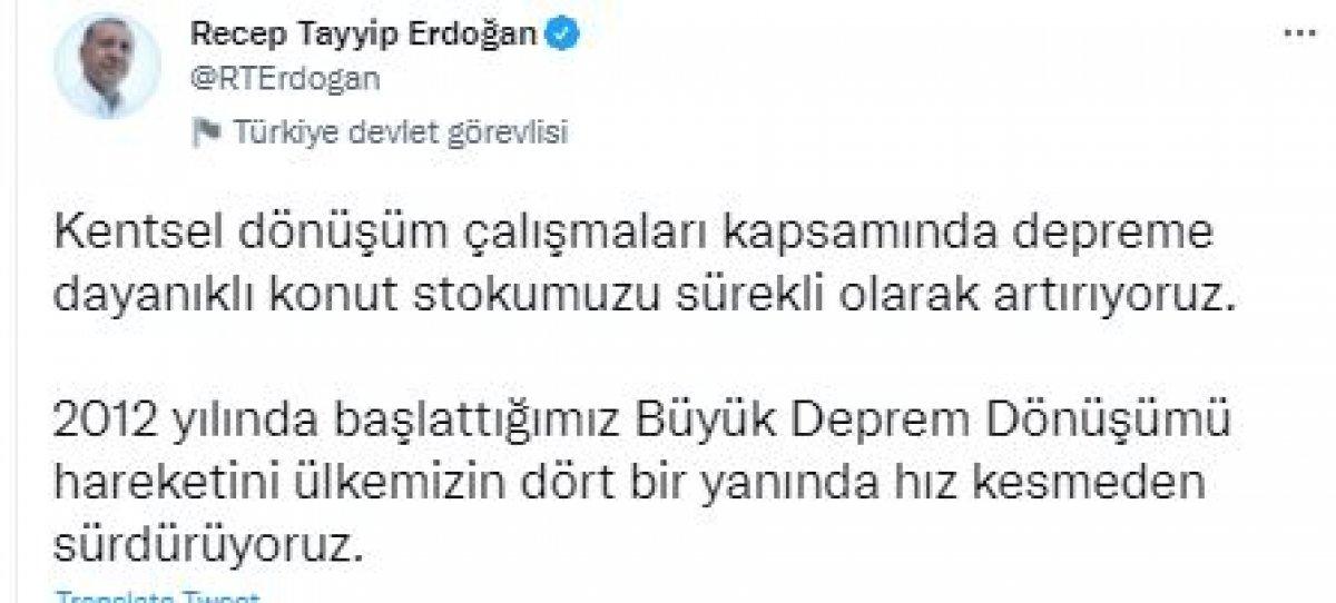 Cumhurbaşkanı Erdoğan dan kentsel dönüşüm mesajı #3