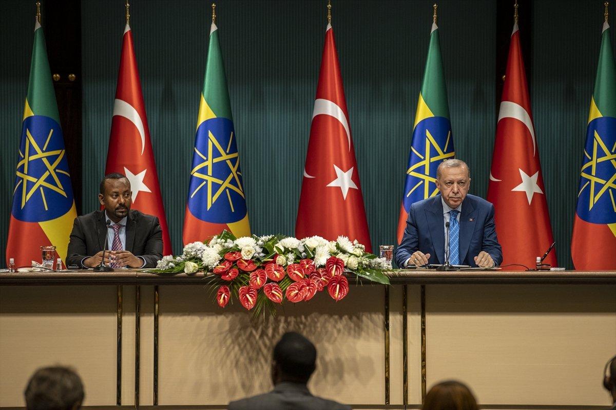 Cumhurbaşkanı Erdoğan ile Etiyopya Başbakanı ndan ortak açıklama #4