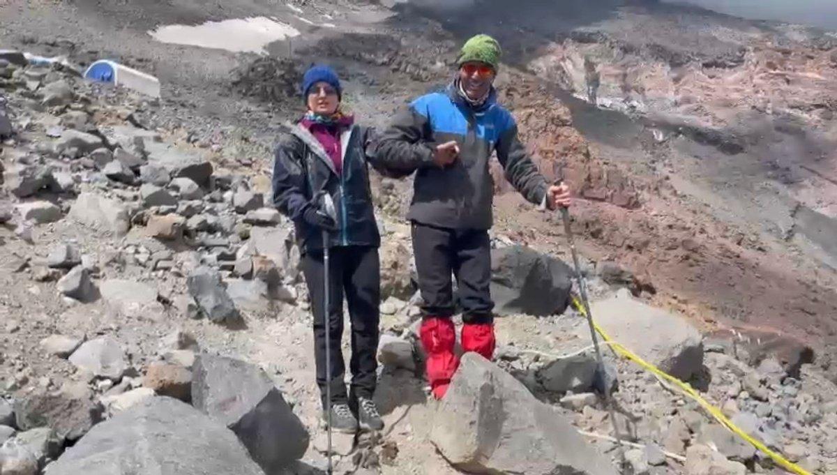 Görme engelli Melisa, Ağrı Dağı na tırmandı #2