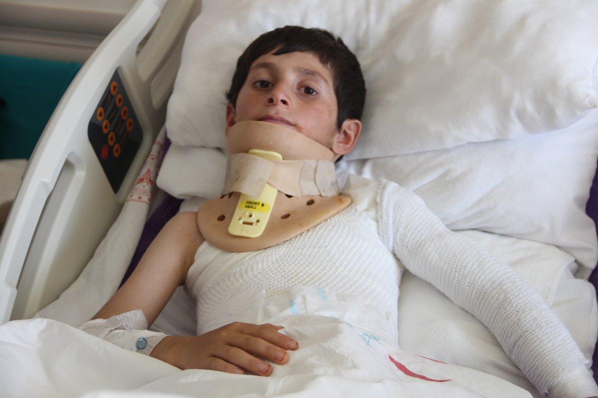 Ağrı da elektrik akımına kapılan çocuğun mucize kurtuluşu #3