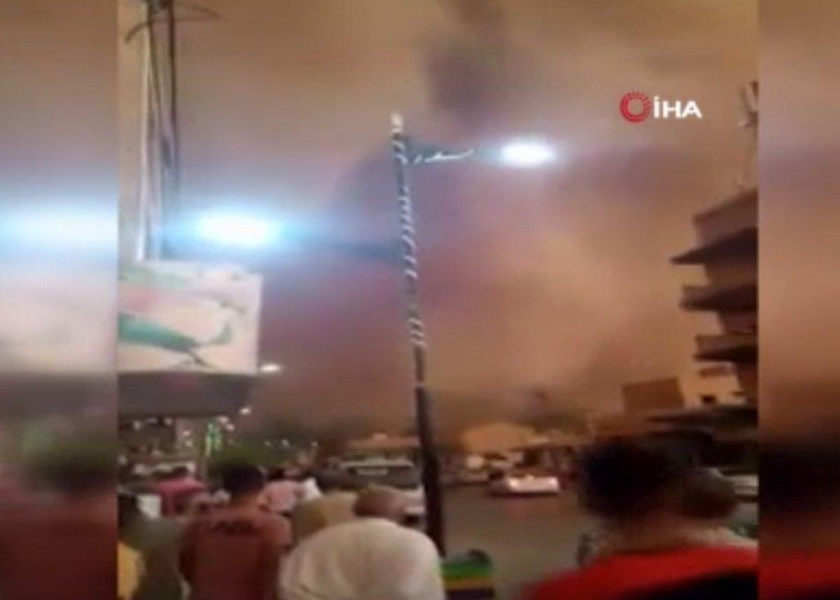Cezayir de kum fırtınası çıktı #1