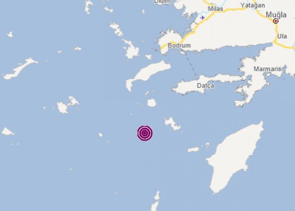 Datça açıklarında 4,6 büyüklüğünde deprem #1
