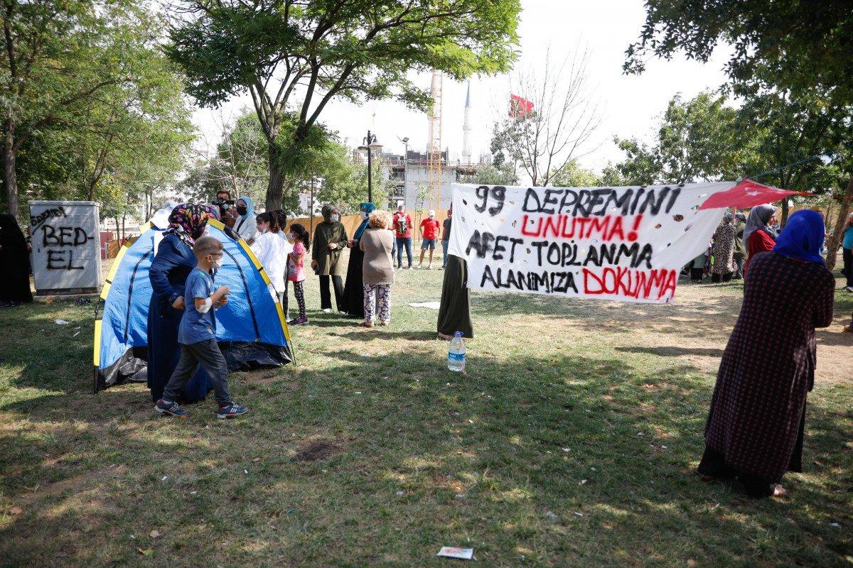 Eyüpsultan'da İBB'nin yıkacağı parkta eylem #1