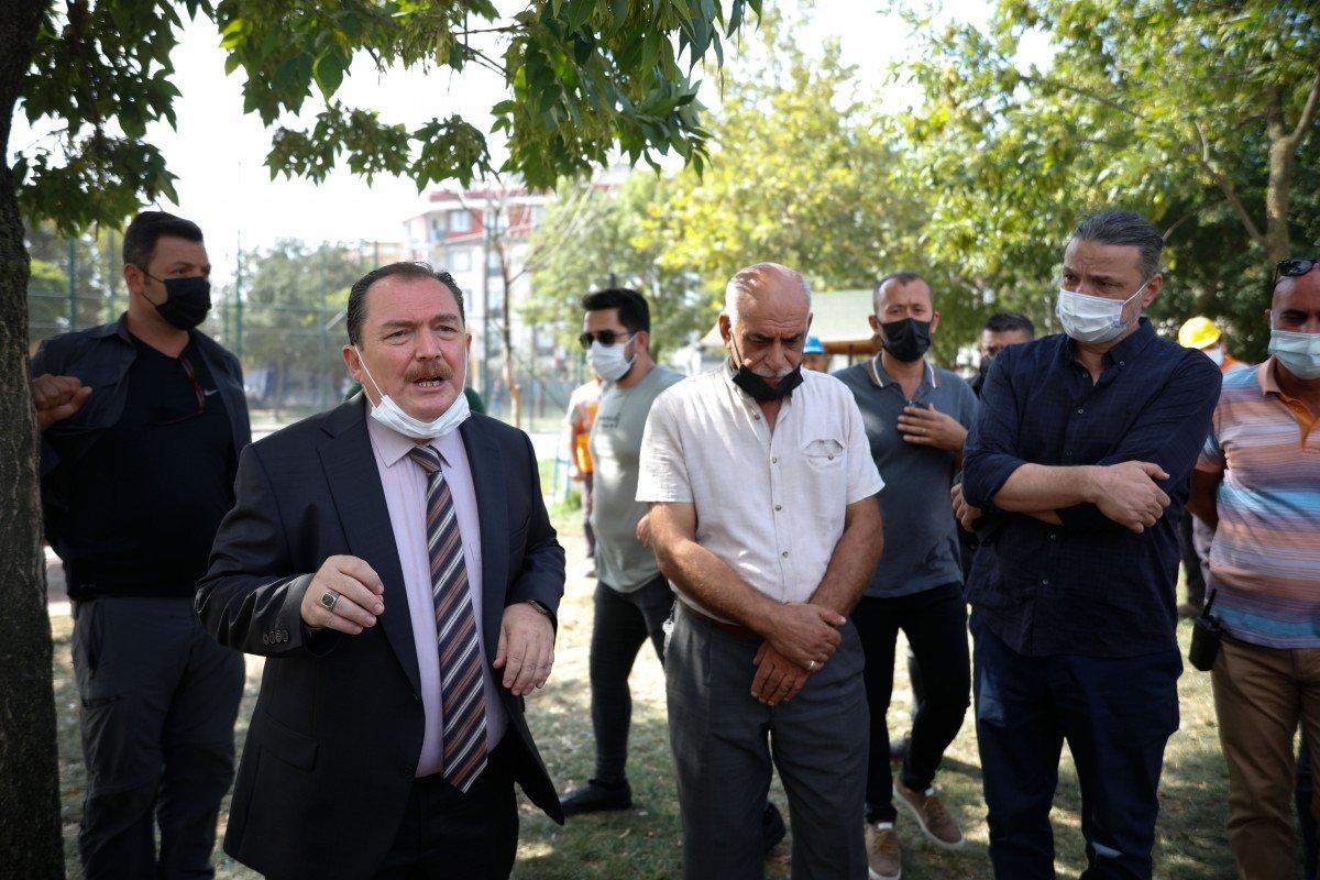 Eyüpsultan'da İBB'nin yıkacağı parkta eylem #5