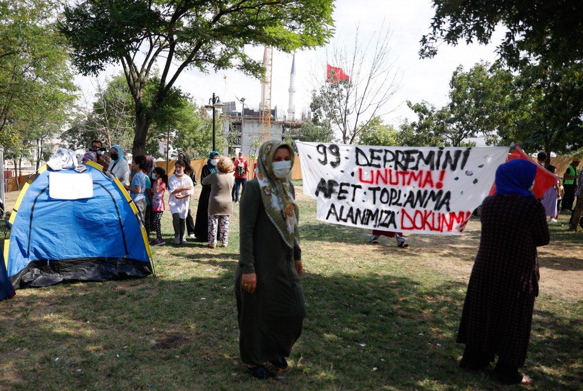 Eyüpsultan'da İBB'nin yıkacağı parkta eylem #2