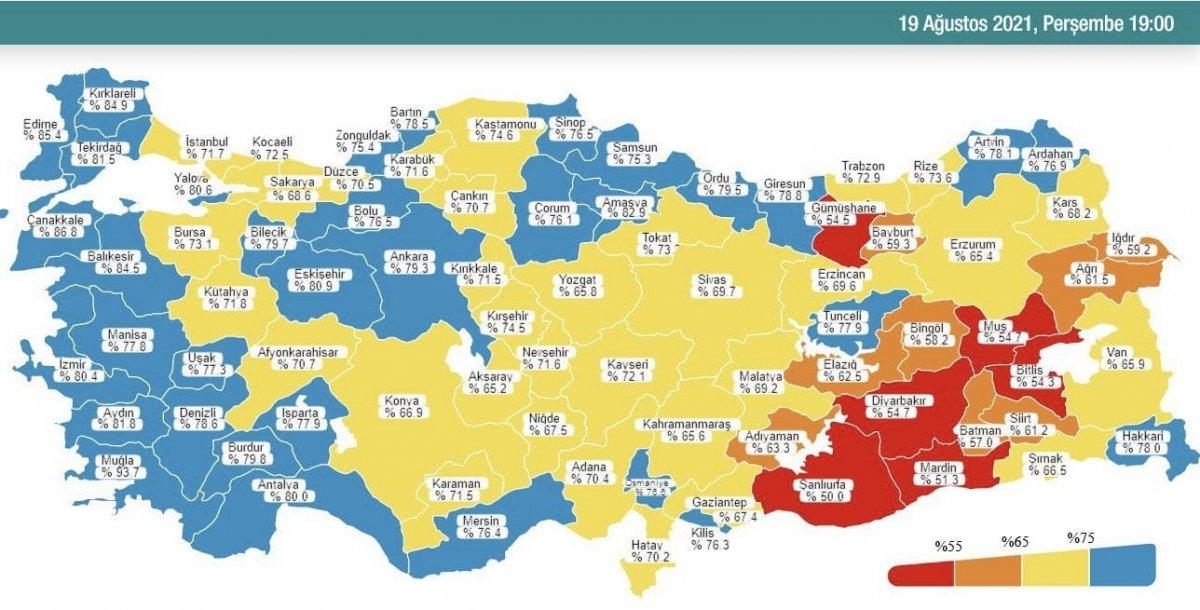 Samsun, koronavirüs aşılamasında  mavi  kategoriye geçti #1
