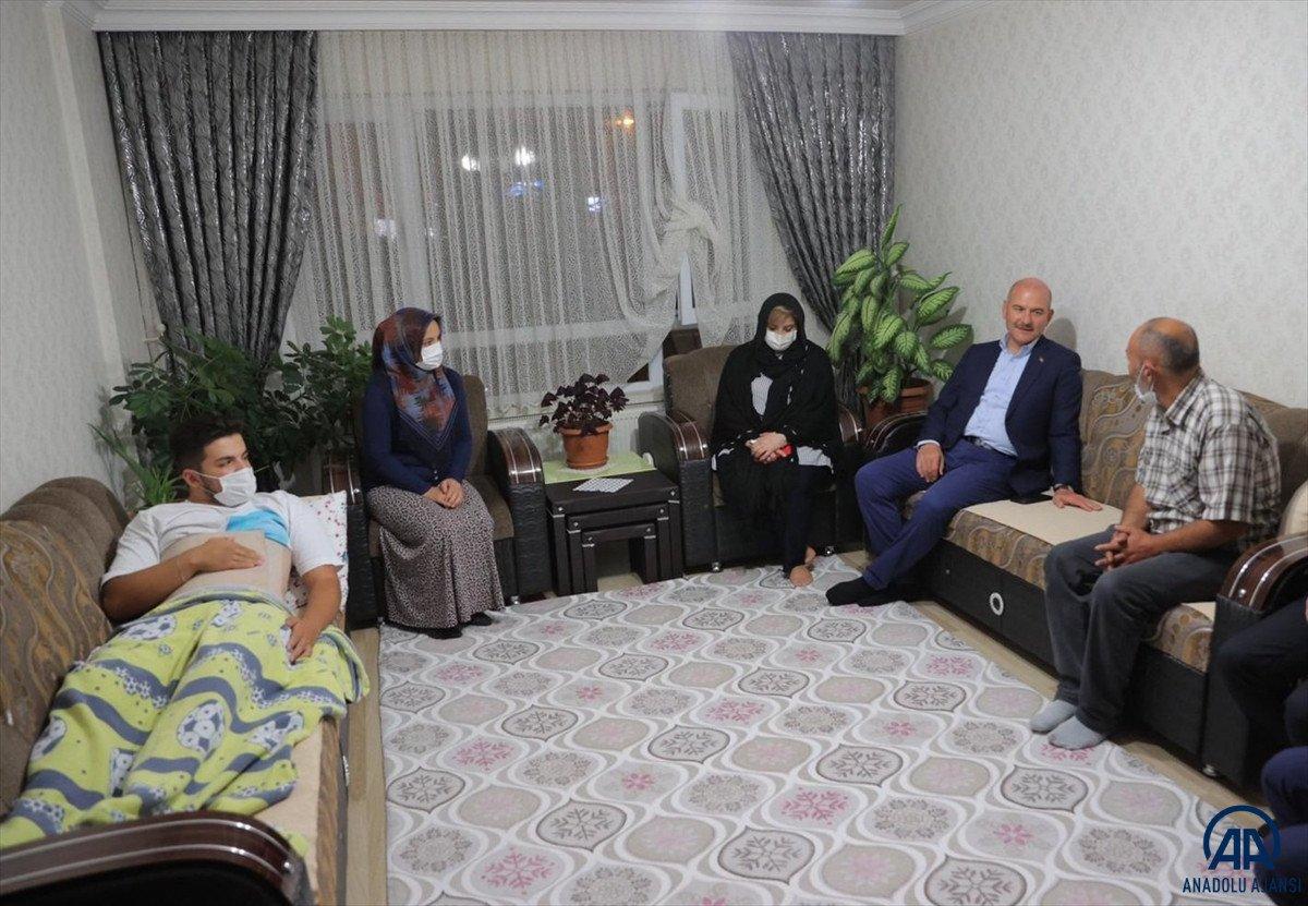 Süleyman Soylu, Emirhan Yalçın ve Ali Yasin Ülger in ailelerini ziyaret etti #2
