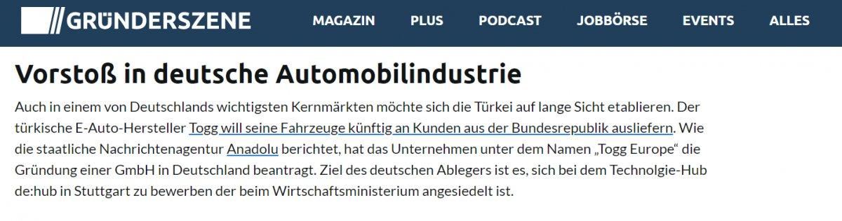 Türkiye nin yerli otomobili, Almanya nın gündemindeki yerini koruyor #3
