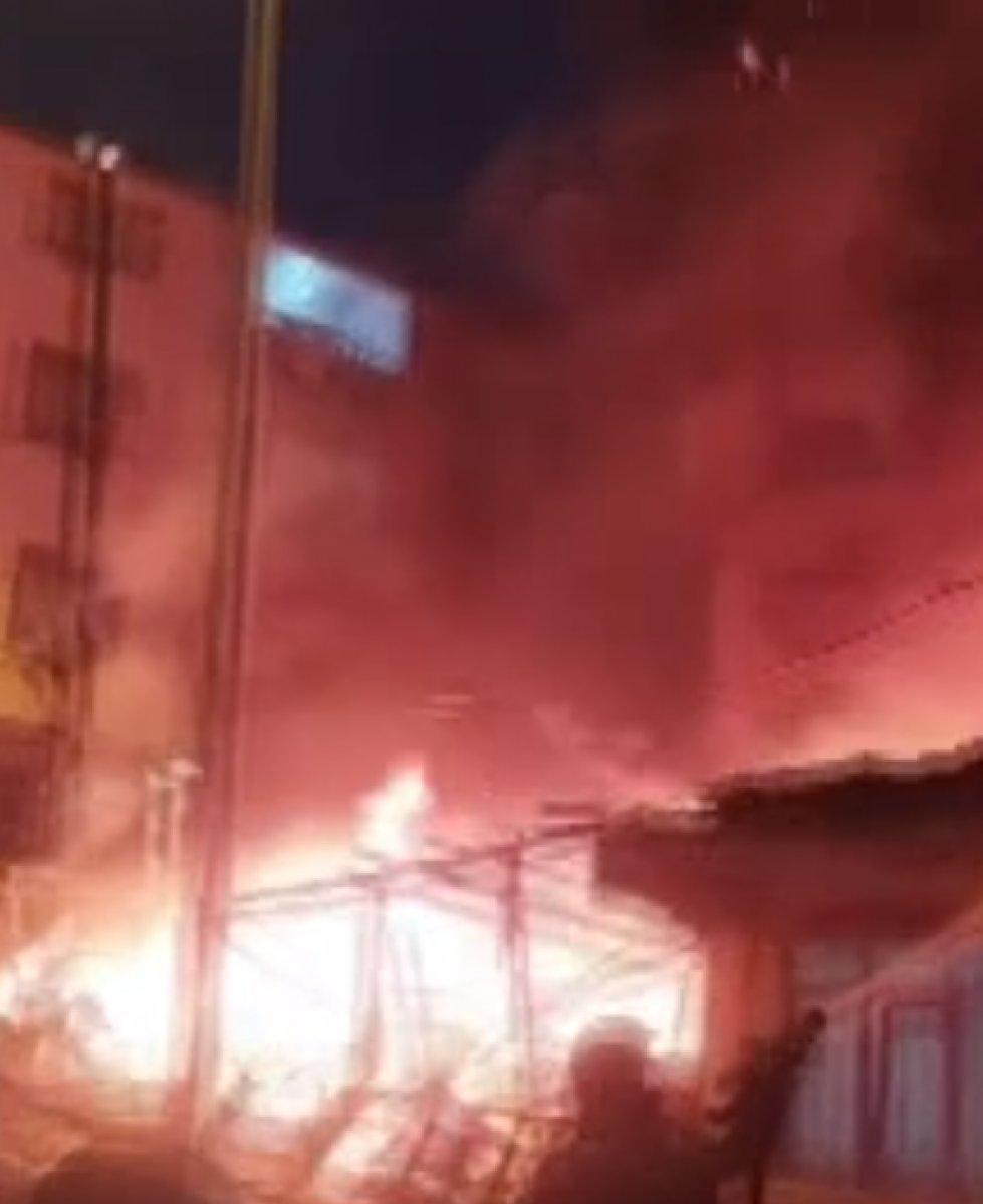İstanbul da bir gecekonduda yangın çıktı #2