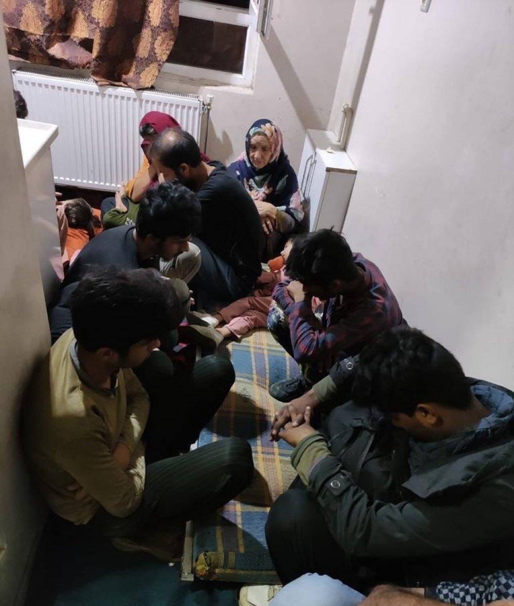 Van da 4 katlı binada 78 kaçak göçmen yakalandı #3