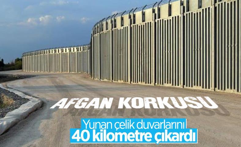 Yunanistan'dan 'Afganlar' için önlem: Türkiye sınırına 40 kilometrelik çelik duvar örüldü