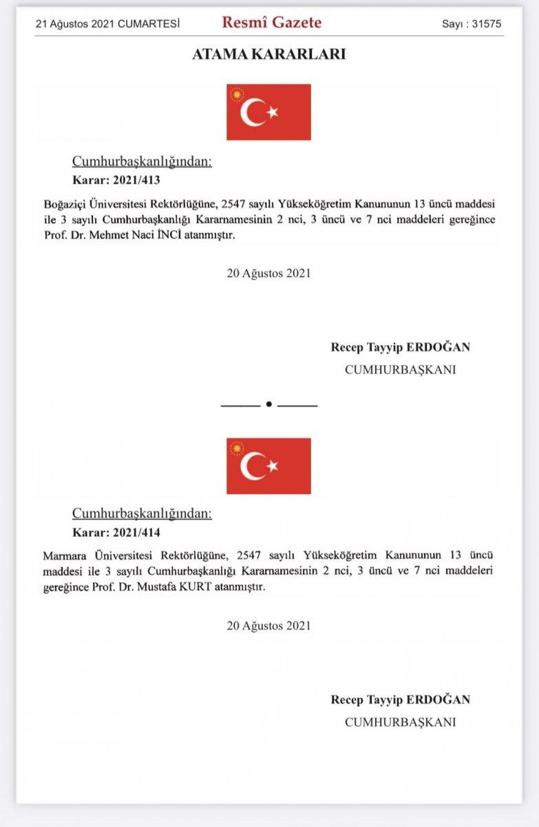 Boğaziçi rektörlüğüne Mehmet Naci İnci atandı #1